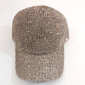 Accessories - Khaki sequin cap
